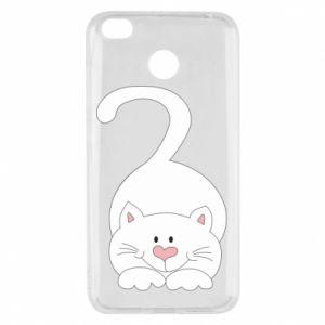 Etui na Xiaomi Redmi 4X Playful white cat