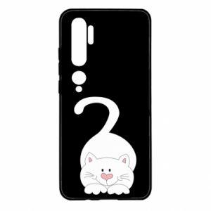 Etui na Xiaomi Mi Note 10 Playful white cat