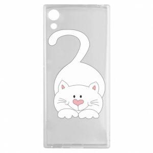 Etui na Sony Xperia XA1 Playful white cat