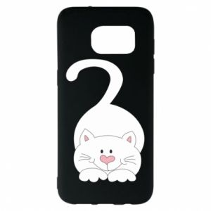 Etui na Samsung S7 EDGE Playful white cat