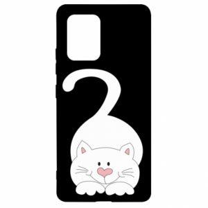 Etui na Samsung S10 Lite Playful white cat