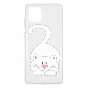 Etui na Samsung Note 10 Lite Playful white cat