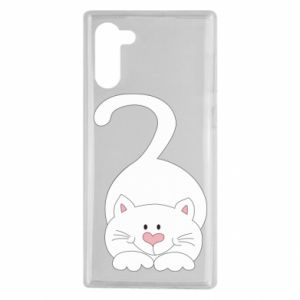 Etui na Samsung Note 10 Playful white cat