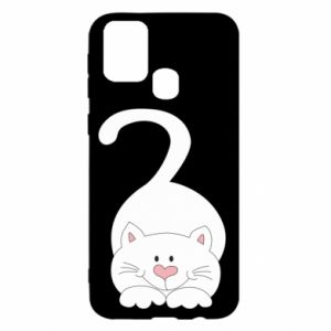 Etui na Samsung M31 Playful white cat