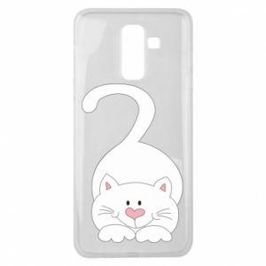 Etui na Samsung J8 2018 Playful white cat