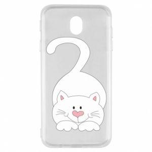 Etui na Samsung J7 2017 Playful white cat