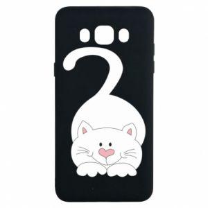 Etui na Samsung J7 2016 Playful white cat