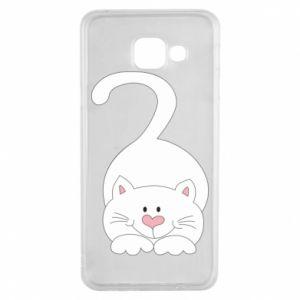 Etui na Samsung A3 2016 Playful white cat