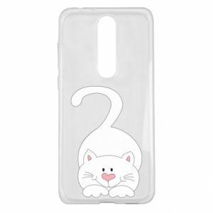 Etui na Nokia 5.1 Plus Playful white cat