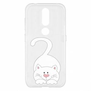 Etui na Nokia 4.2 Playful white cat
