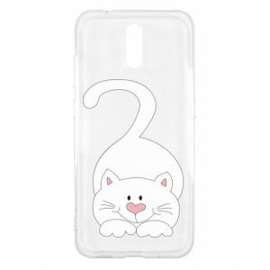 Etui na Nokia 2.3 Playful white cat