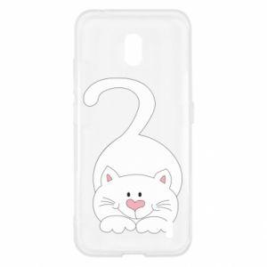 Etui na Nokia 2.2 Playful white cat