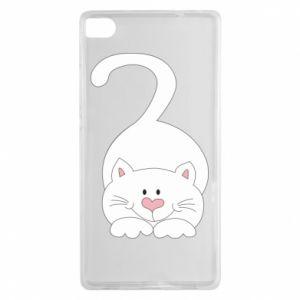 Etui na Huawei P8 Playful white cat