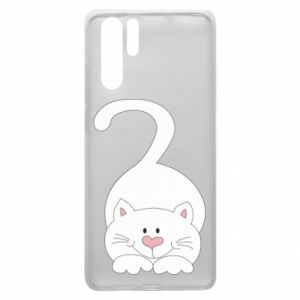 Etui na Huawei P30 Pro Playful white cat
