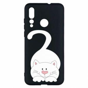 Etui na Huawei Nova 4 Playful white cat