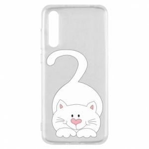 Etui na Huawei P20 Pro Playful white cat