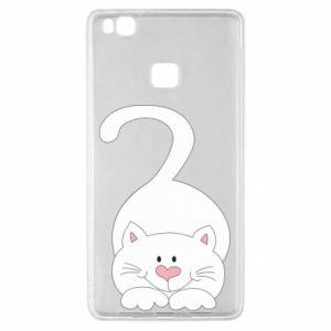 Etui na Huawei P9 Lite Playful white cat