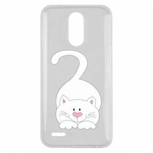 Etui na Lg K10 2017 Playful white cat