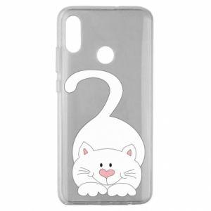 Etui na Huawei Honor 10 Lite Playful white cat