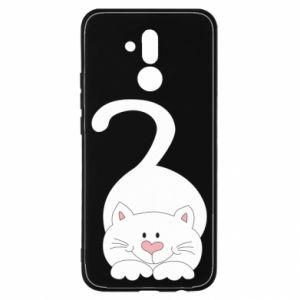 Etui na Huawei Mate 20 Lite Playful white cat