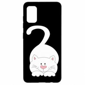 Etui na Samsung A41 Playful white cat