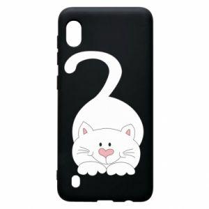 Etui na Samsung A10 Playful white cat