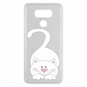 Etui na LG G6 Playful white cat