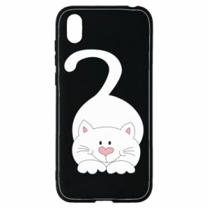 Etui na Huawei Y5 2019 Playful white cat