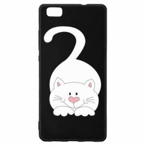 Etui na Huawei P 8 Lite Playful white cat