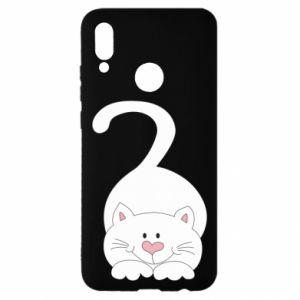 Etui na Huawei P Smart 2019 Playful white cat