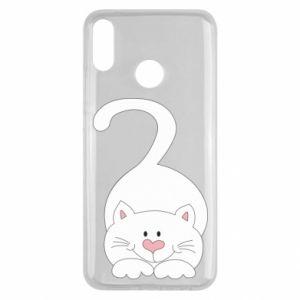 Etui na Huawei Y9 2019 Playful white cat