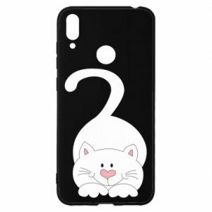 Etui na Huawei Y7 2019 Playful white cat
