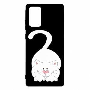 Etui na Samsung Note 20 Playful white cat