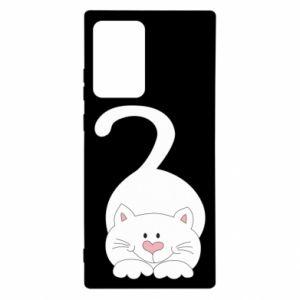 Etui na Samsung Note 20 Ultra Playful white cat