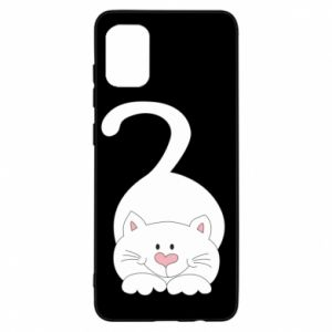 Etui na Samsung A31 Playful white cat