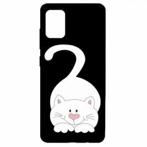 Etui na Samsung A51 Playful white cat