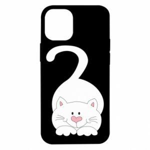 Etui na iPhone 12 Mini Playful white cat