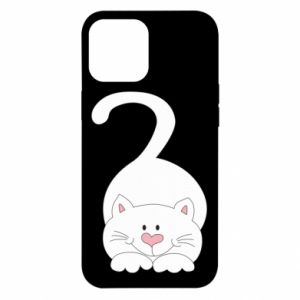 Etui na iPhone 12 Pro Max Playful white cat
