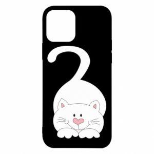 Etui na iPhone 12/12 Pro Playful white cat