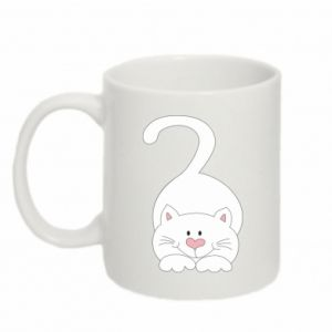 Mug 330ml Playful white cat