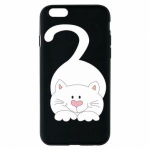Phone case for iPhone 6/6S Playful white cat - PrintSalon