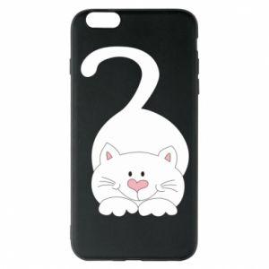 Phone case for iPhone 6 Plus/6S Plus Playful white cat - PrintSalon