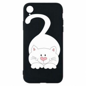 Phone case for iPhone XR Playful white cat - PrintSalon