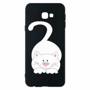 Phone case for Samsung J4 Plus 2018 Playful white cat - PrintSalon
