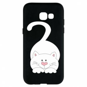 Phone case for Samsung A5 2017 Playful white cat - PrintSalon