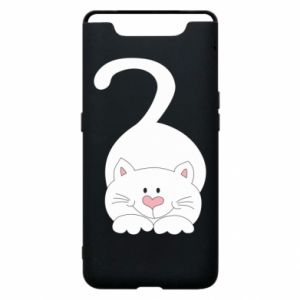 Phone case for Samsung A80 Playful white cat
