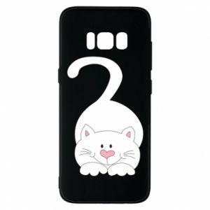 Phone case for Samsung S8 Playful white cat - PrintSalon