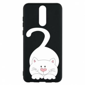 Phone case for Huawei Mate 10 Lite Playful white cat - PrintSalon