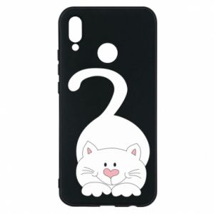 Phone case for Huawei P20 Lite Playful white cat - PrintSalon
