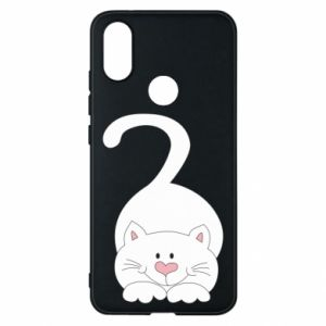 Phone case for Xiaomi Mi A2 Playful white cat - PrintSalon